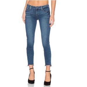 Paige Verdugo Ankle Uneven Hem Jeans In Color Lane